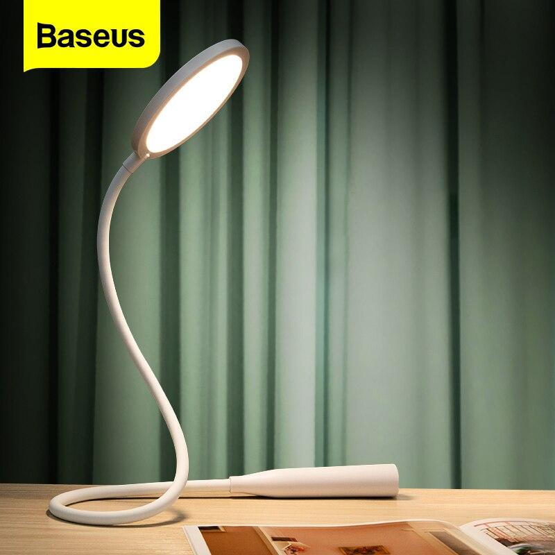 Baseus Flexible Tisch Lampe LED Schreibtisch Nacht Studie Lesen Lampe Wiederaufladbare Touch Licht Desktop Büro Schlafzimmer Faltbare Flexo Lampe