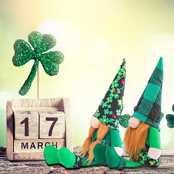 2pc Gnome Plush Doll St. Patrick's Day Faceless Green Clover Gnomes Doll Irish Day Party Decor Saint Patricks Day Gifts For Kids 1