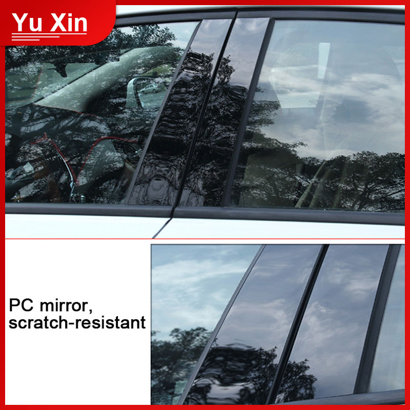 PC Mirror B-pillar Stickers For E60 E90 F30 F10 F20 F07 E70 E84 E46 Pillars Column Decorative Sticker Trim