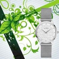 Nova moda mulher relógio de quartzo prata milão aço strass relógio feminino 32mm japão gl20 movimento menina à prova dwaterproof água elegante reloj Relógios femininos     -