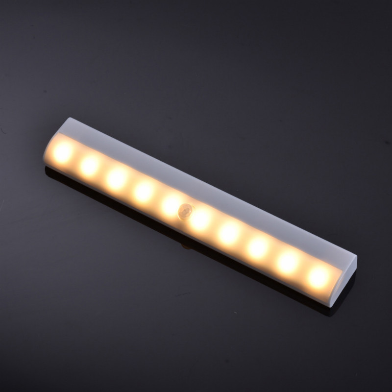 Wireless LED Under Cabinet Light PIR Motion Sensor Lamp 10 LEDs For Wardrobe Cupboard Closet Kitchen Lighting Led Night Light