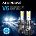 Afarnova H7 светодиодный головной светильник H4 автомобильный светильник Автомобильный светодиодный фары 9005 9006 12v Высокая Яркость лампы H8 H9 H11 ту...