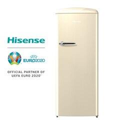 Hisense RR330D4AY2 холодильник, холодильник, 254 л, низкий уровень шума, Винтажный дизайн, кремового цвета, не мороз класса до + +