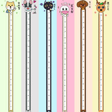 Wall Stickers Creative Animal Height Measure for Children's Room Kindergarten Growth Chart Wall Decals Home Decoration Stickers