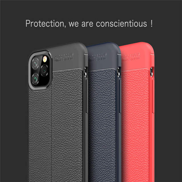 Funda de cuero Luxurry funda para iPhone 11 funda de silicona