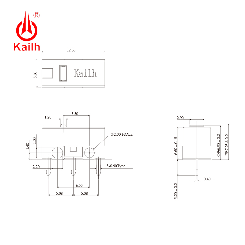 8pcs Kailh micro switch 60M life  gaming mouse Micro Switch 3 Pin red dot used on computer mice left right button kailh gm red 2