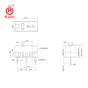 Image 3 - 8pcs Kailh micro switch 60M life  gaming mouse Micro Switch 3 Pin red dot used on computer mice left right button kailh gm red