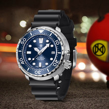 PAGRNE DESIGN New 45MM Stainless Steel Large Dial Mechanical Watch Luxury Sapphire Glass Automatic Watch Men's 300M Diving Watch