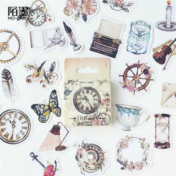 (42 style mogą wybrać) naklejka zegar naklejki w opakowaniu DIY papier do scrapbookingu terminarz planer Album Vintage Seal Decoration tanie i dobre opinie CN (pochodzenie) Paper Stickers