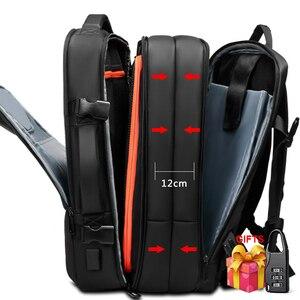 Image 1 - Travel Backpack Large Capacity Male Mochila Expandable Rucksack with USB Charging Laptop Backpack Waterproof Multifunctional bag
