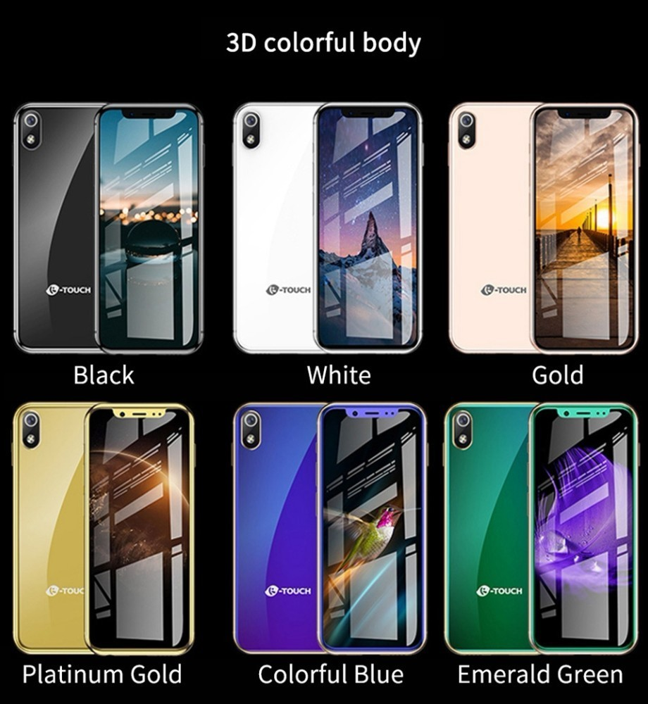 I9 pequeño teléfono inteligente 4G LTE 3,5 Mtk6739 Quad Core Android 8,1 2GB de RAM + 16GM/32GB Rom 8.0MP de Bolsillo GPS Mini teléfono Android - 3