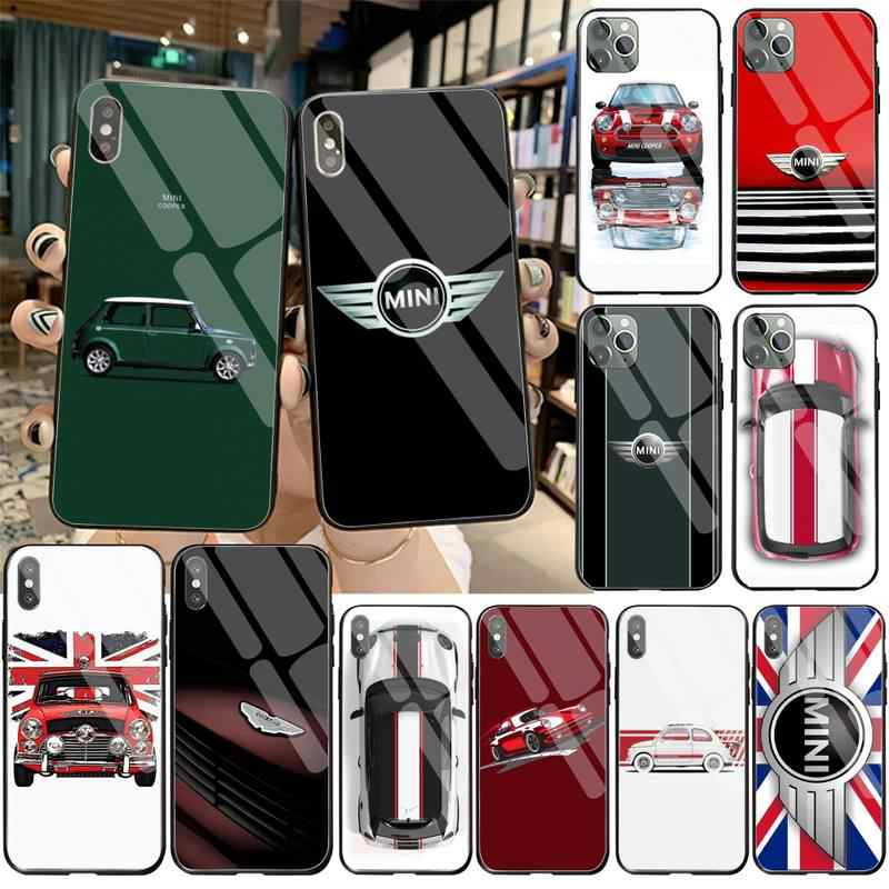 Mini Auto Tpu Soft Silicone Telefoon Case Cover Gehard Glas Voor Iphone 11 Pro Xr Xs Max 8X7 6S 6 Plus Se 2020 Case