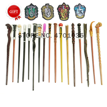 17 Kinds of Potters Wand Series Amazing Animal Style Magic Wand Metal Young Dumbledore Newt Wands Free 4 Academy of Magic Badges wizarding world of magic wand wand magic luna lovegood wand with box