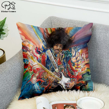 Rock singer Bob Marley/The Hillbilly Cat Hip Hop Pillow Case Polyester Decorative Pillowcases Throw Pillow Cover Square style-11 image