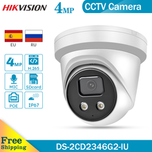 Hikvision DS-2CD2346G2-IU oem 4mp wdr h.265 + built-in mic ir30 poe ip67 fixo torre câmera ip.