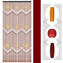 Persianas de madeira artesanais 90x220cm 31 linha cortinas de madeira grânulo tela voar portão divisor sheer para corredor sala estar janela da porta
