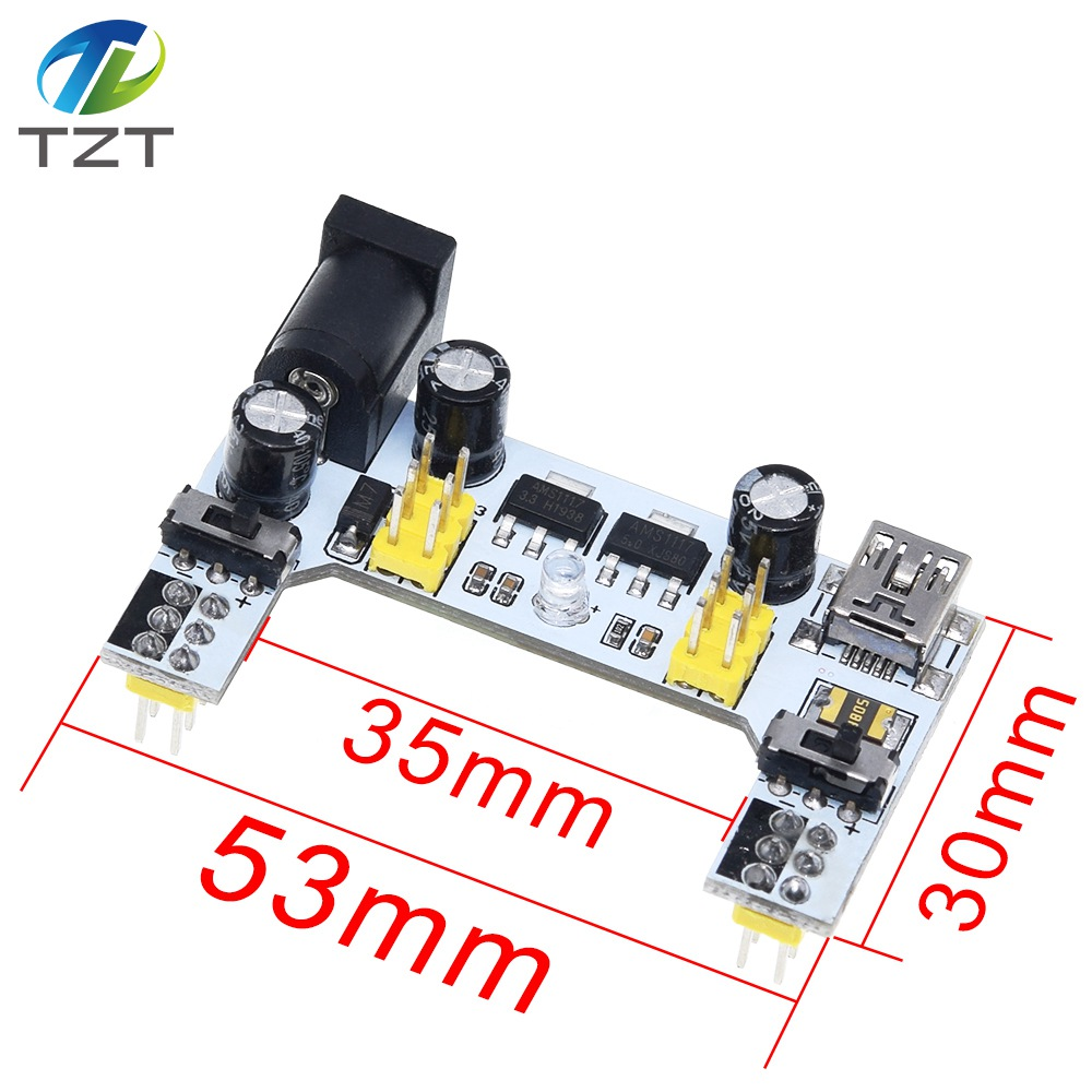 Image 2 - TZT MB102 Breadboard Power Module+MB 102 830 Points Solderless Prototype Bread Board kit +65 Flexible Jumper Wires-in Integrated Circuits from Electronic Components & Supplies