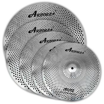 Arborea 5 piezas Juego de platillos de bajo volumen, 14