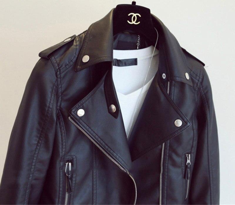 Кожаная женская куртка, черный жакет из экокожи, женский повседневный укороченный жакет в стиле нео-гранж, уличный жакет по фигуре на каждый...