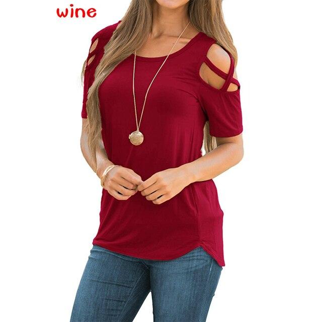Plus Size Printed Women Off Shoulder T-Shirt