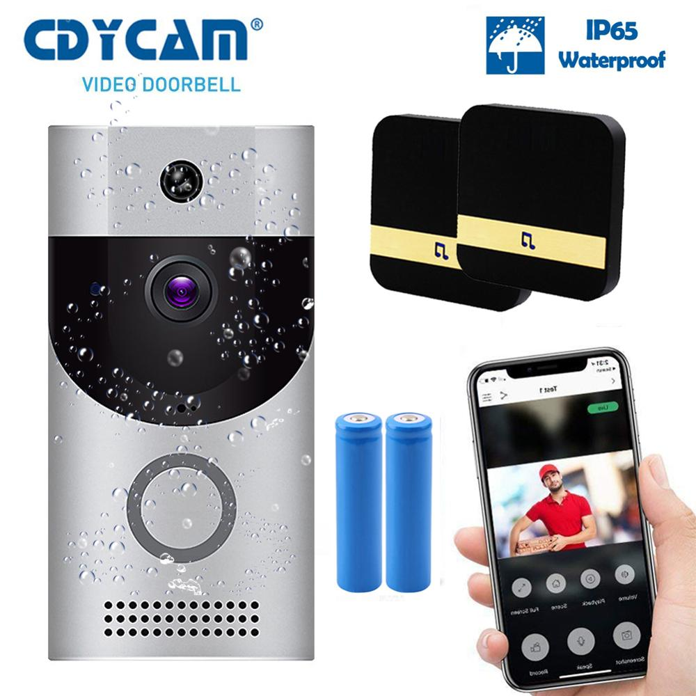 WIFI Video doorbell camera intercom system wireless home ip door bell phone chime PIR 2 way