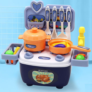 2020 Play house kitchen children's toy set Cooking for boys and girls cookware toy Kitchen Food Toys Simulation cut fruit toy children s family kitchen toy boys and girls cooking simulation family toy baby kitchenware set
