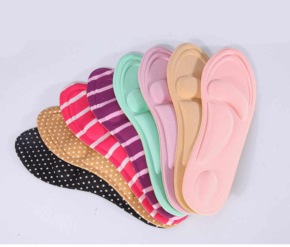 Arch Support Orthotic Feet Care  Massage High Heels 3D Sponge Anti Pain Shoe Insoles Cushions
