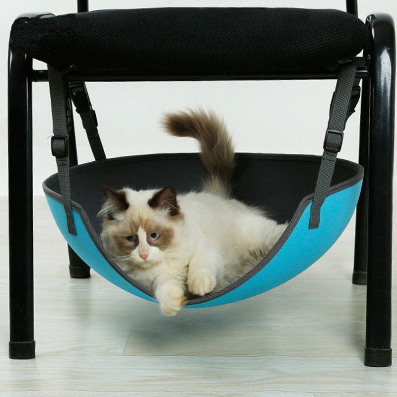 Nueva hamaca segura Para Mascotas EVA elíptica cama Para Gatos manta Para gato Columpio de hierro jaula silla colgante cama Gatos Productos Para Mascotas