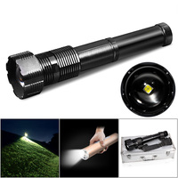 SecurityIng LED IWaterproof 4292 루멘 3 모드 Zoomable 높은 전원 손전등 스위트 지원 전문 캠핑/낚시