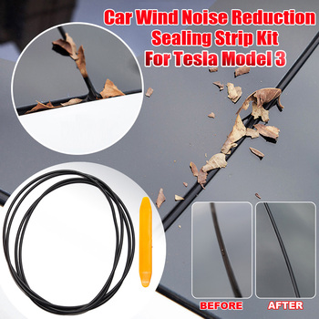 Sunroof Rubber Seal Strip Wind Noise Reduction Kit Anti-Dust Skylight Sealing Lowering Silicone for Tesla Model 3