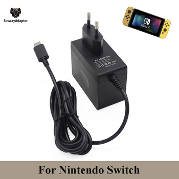 цена на EU/US/UK PLUG 5V 3A 15V 2.6A AC Adapter Charger For Nintendo Switch NS Console Wall Charge USB Type C Power Supply