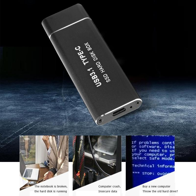 Image 4 - Metal USB3.1 Type C SSD Adapter M.2 NVMe PCI e Solid State Drive Case Computer peripheralsAC/DC Adapters   -