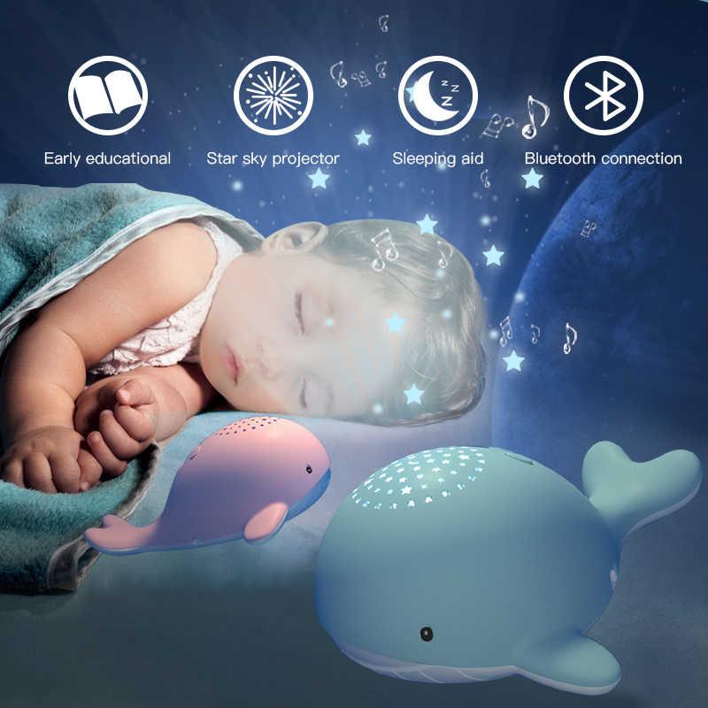 Beiens ночные светильники для детей Звездное небо Проектор Игрушка музыкальный мобиль для малышей свет usb зарядка Bluetooth дистанционное управление подарок на день рождения