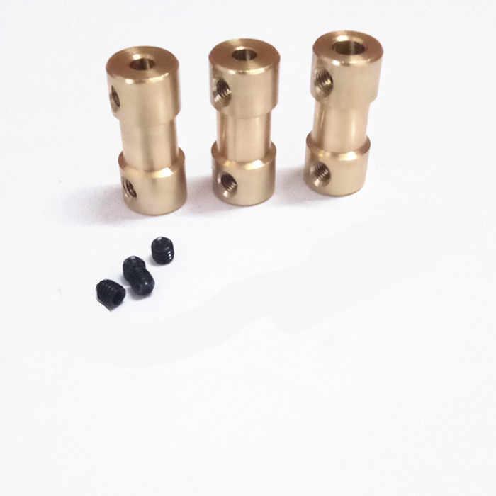 2mm/2.3mm/3mm/3.17mm/4mm/5mm/6mm laiton rigide moteur arbre coupleur coupleur moteur Transmission connecteur avec vis clé