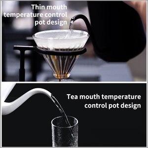 Image 4 - 700ml חכם קפה קומקום מהיר חימום קפה סיר חשמלי קומקום יד מבושל קפה משתנה טמפרטורה דיגיטלי מתכווננת