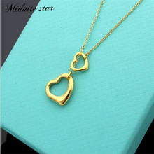 Top Quality  Love Letter Pendant Necklace Luxury Jewelry Classic Design Brand For Woman Titanium Steel