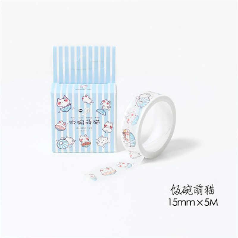 Hot Sale Kartun Washi Tape 15 Mm * 5 M Masking Tape Kelopak Hewan Berkualitas Tinggi Kertas Masking Tape jepang Scrapbooking Stiker