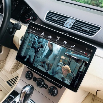 "IPS Rotatable Screen 6-Core PX6 HD 2 din 12.8"" Android 9.0 Universal Car Radio dvd GPS Head Unit Bluetooth WIFI USB Easy Connect"
