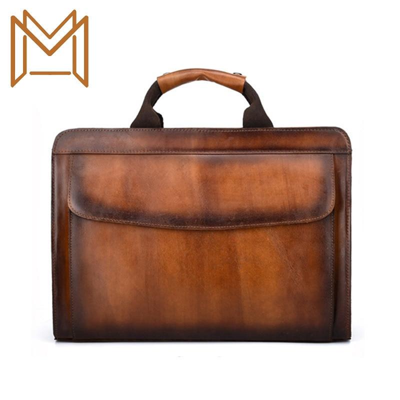 Man Head Layer Cowhide Single Shoulder Male Package Wind Cowhide Skin Color Manual Genuine Leather Handbag
