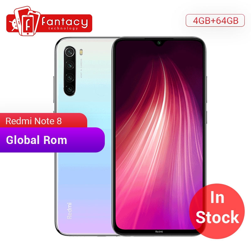 "In Stock Global ROM Xiaomi Redmi Note 8 4GB 64GB 48MP Quad Cameras Smartphone Snapdragon 665 Octa Core 6.3"" FHD Screen 4000mAh"