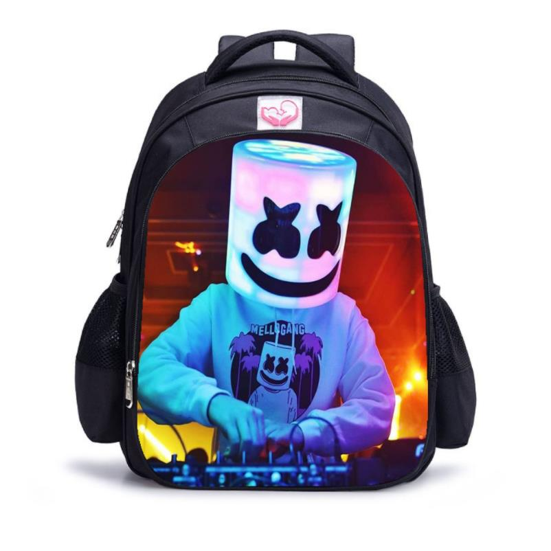 Backpacks Marshmello Junior Boys High-School Girls New DJ For Children