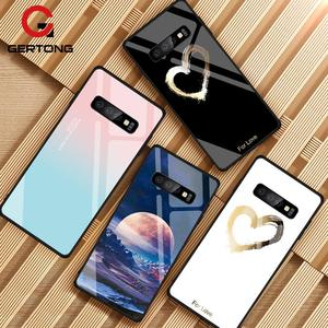 Image 1 - Gehard Glas Case Voor Samsung Galaxy S10 S9 S8 S20 Plus S10e S20 Ultra A51 A50 A71 A70 Shockproof Ster ruimte Gradiënt Cover