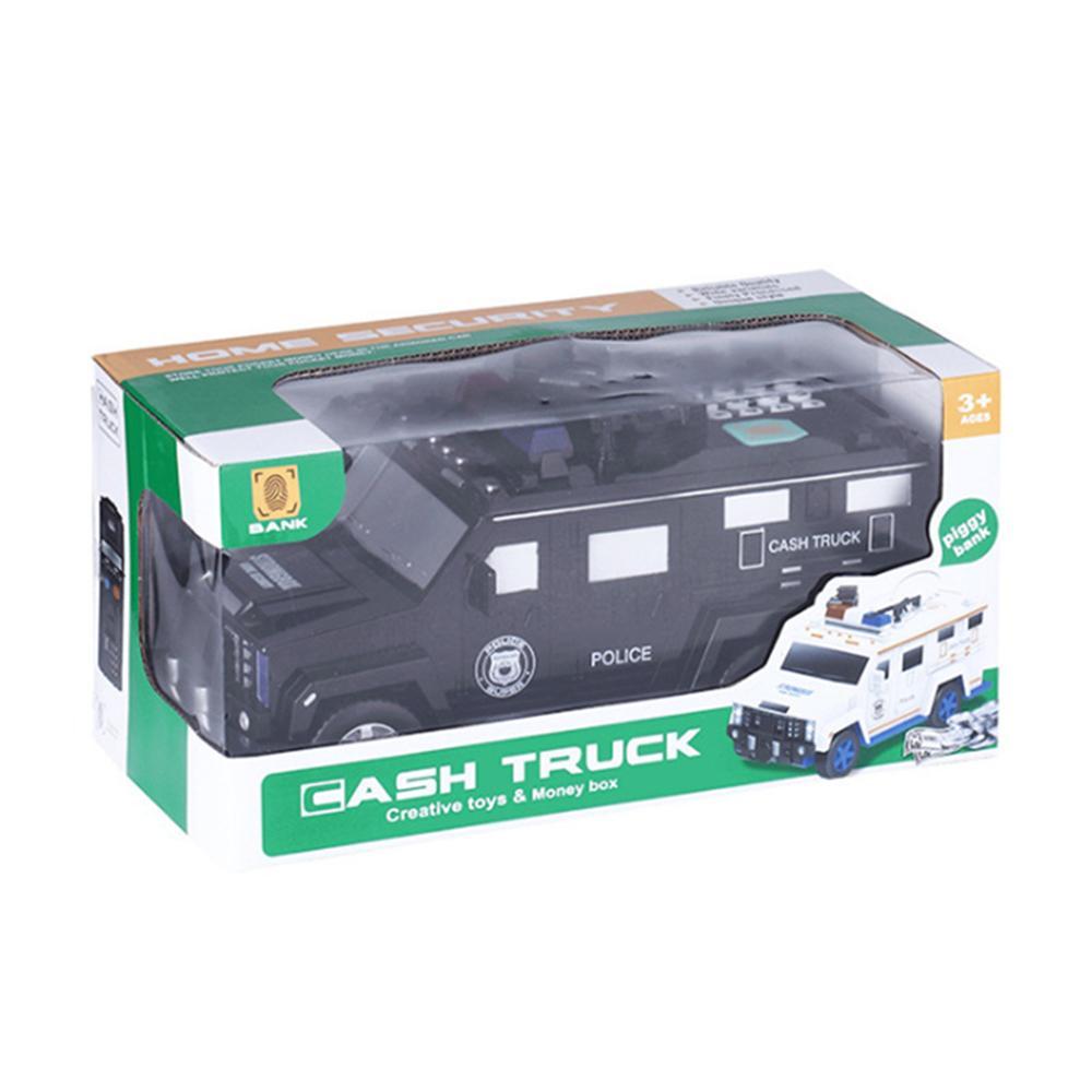 Hucha con contraseña de coche blindado para niños, con música y luz, batería electrónica, coche de juguete, regalos de cumpleaños