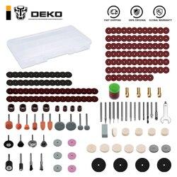 DEKO – outil rotatif DKSP210RT, accessoires pour meulage, coupe, sculpture sur bois, ponçage, 210 pièces