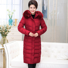 AYUSNUE Long Winter Jacket Women Parka Plus Size Coat Hooded Big Fur Collar Down Cotton Ladies Jackets Parkas Mujer 2020 ZL01#(China)