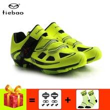 цена на Tiebao Cycling Shoes MTB men women professional mountain bike sapatilha ciclismo mtb cycling sneakers riding bicycle shoes