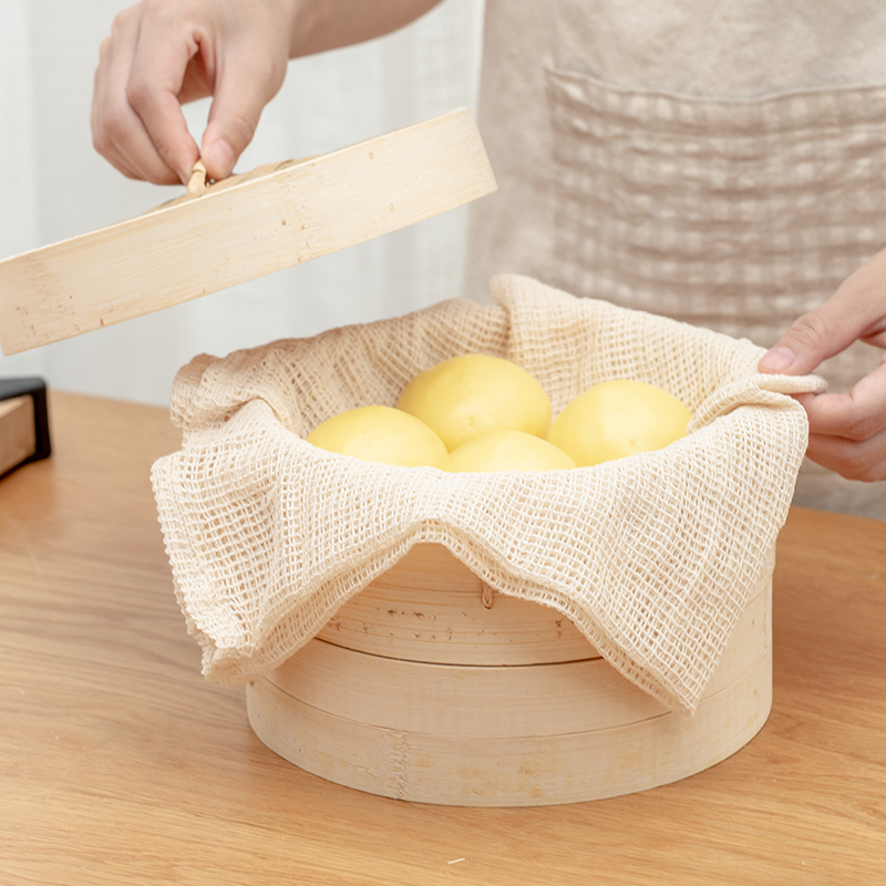 Japan Household Cotton Non-stick Steamer Mat Steamed Cloth Steamed Buns Filter Cloth Kitchen Supplies Home Accessories Tool