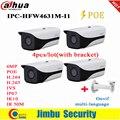 Dahua IP камера POE 6MP IPC-HFW4631M-I1 4 шт./лот IR50M с кронштейном 3DNR WDR H.265 / H.264 IP67 Многоязычная сеть