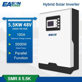 Inversor solar de 5,5 kw, 500Vdc, entrada PV, 230V, 48V, 100a, MPPT, cargador Solar de 5500W, inversor híbrido de onda sinusoidal pura con WiFI y Bluetooth 1