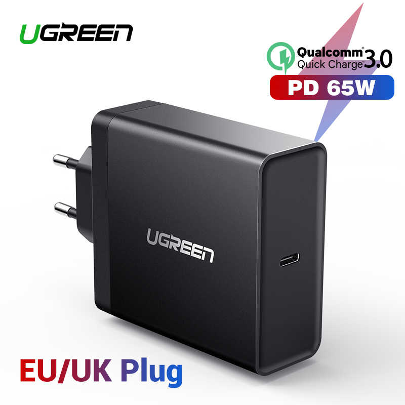 Ugreen PD 65W Charger USB TYPE C Charger untuk Apple Macbook Air Pro Samsung Asus Acer Tablet Charger untuk Nintendo Switch